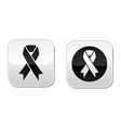 Set of ribbons symbols for breast cancer vector