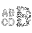 Title letters in floral style vector