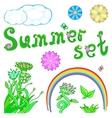 Summer set for design vector