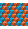 Colorful drawing styled cubes pattern vector