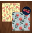 Seamless flower pattern set summer tiny floral vector