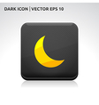Moon icon gold vector