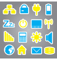 Laptop and pc indication stickers eps10 vector