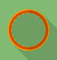 Sport hula hoop icon modern flat style with a long vector