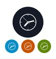 Watch icon wall clock icon vector