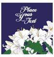 White lilies card vector