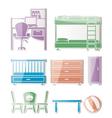Nursery and room furniture vector