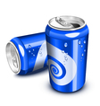 Blue soda cans vector