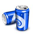 Blue soda cans vector