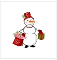 Snowman on white background vector