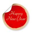Vintage happy new year label vector