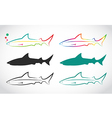 Group of shark vector