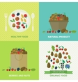Banners with nuts and berries vector