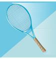Tennis racket on blue vector