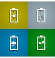 Eco batteries vector