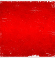 Red christmas themed grungy background vector