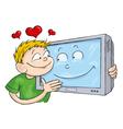 Tv lover vector