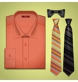 Red shirt with a tie vector