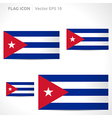 Cuba flag template vector