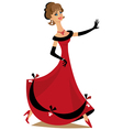 Dancing lady vector