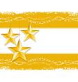 Gold christmas stars vector