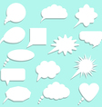 Speech bubbles with shadow set vector