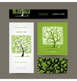 Business cards design with love tree vector