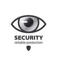 Logo eye protection and surveillance vector