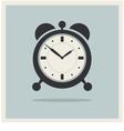 Alarm clock on retro blue background vector