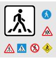 Pedestrian sign vector