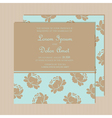 Wedding invitation with flowers vector