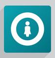 Flat female profile icon vector