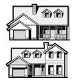 Single family house  set vector