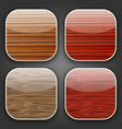 Backgrounds with wooden texture for the app icons vector