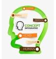 Human head infographic concept line art vector