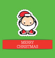 Little baby dressed in adorable christmas costumes vector