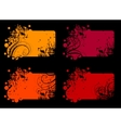 Four abstract banners vector