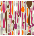 Cutlery silhouette icons pattern background vector
