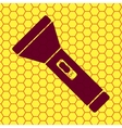 Flashlight  flat modern web button and space for vector