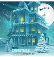 Christmas and new year greeting card with the vector
