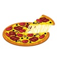 Pizza slices pepperoni and mushroom vector