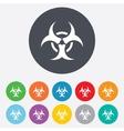 Biohazard sign icon danger symbol vector