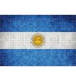 Mosaic flag of argentina vector