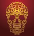 Gold skull ornamental vector