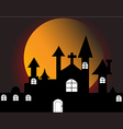 Halloween with haunted house vector