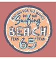 Surfing beach vector