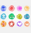 Creative colored icons for internet retail vector