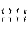 Stop and go pictograms vector