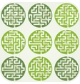 Set of maze for kids with answer vector
