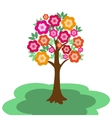 Fairy flowering tree vector
